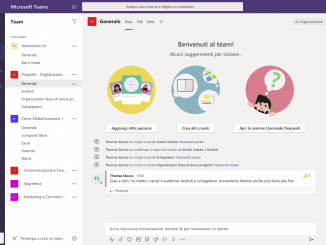 Guida introduttiva a Microsoft Teams