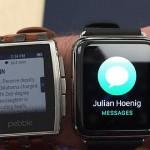 Pebble vs Apple Watch