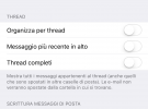 Togliere la visualizzazione e-mail iphone raggruppate per conversazione